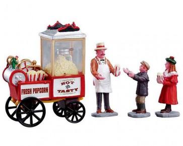 Lemax Popcorn Seller