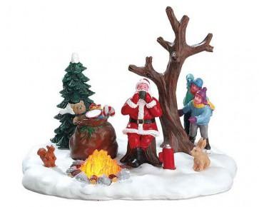 Lemax Santa Takes A Break
