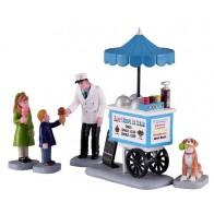 Lemax Happy Scoops Ice Cream Cart
