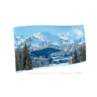 My Village Background Cloth - Mountain Landscape 150X75Cm