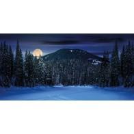 My Village Background Cloth - Mountain Scenery 150X75cm