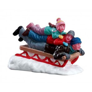 Lemax Sledding With Dad