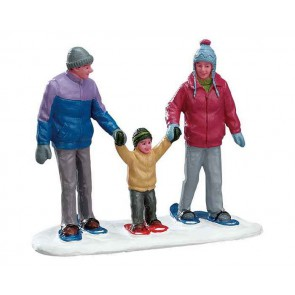 Lemax Snowshoe Family