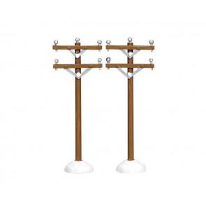 Lemax Telephone Poles