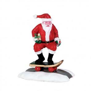Lemax Skateboard Santa