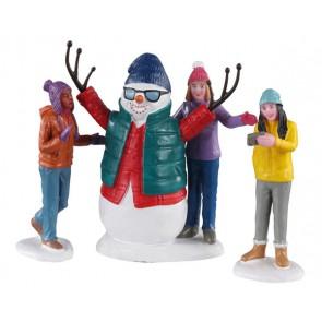 Lemax Snowman Selfie