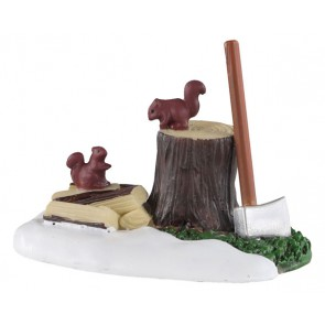 Lemax Axe And Logs