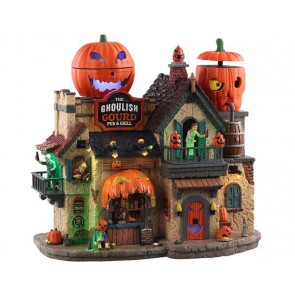 Lemax The Ghoulish Gourd Pub & Grill + 4,5 Volt Adapter