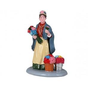 Lemax Flower Seller
