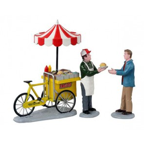 Lemax Taco Cart