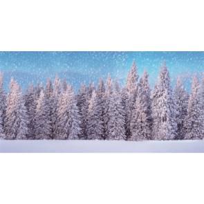 My Village Background Cloth Snow Forest 300X150Cm