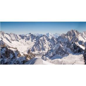 My Village Background Cloth Mountain Peaks 150X75Cm