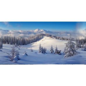 My Village Background Cloth Winter Forest 150X75Cm