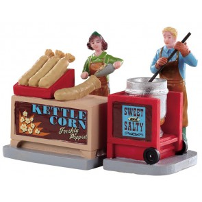 Lemax Kettle Corn Stand