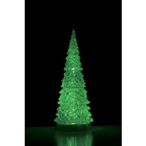 Lemax Crystal Lighted Tree, 4 Color Changeable & Color Transformation