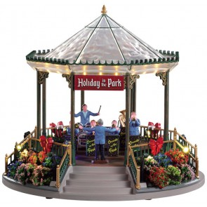 Lemax Holiday Garden Green Bandstand  + 4.5 Volt Adapter