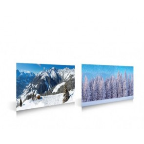 My Village Background double sided -Winter sports/Forest 98X33cm
