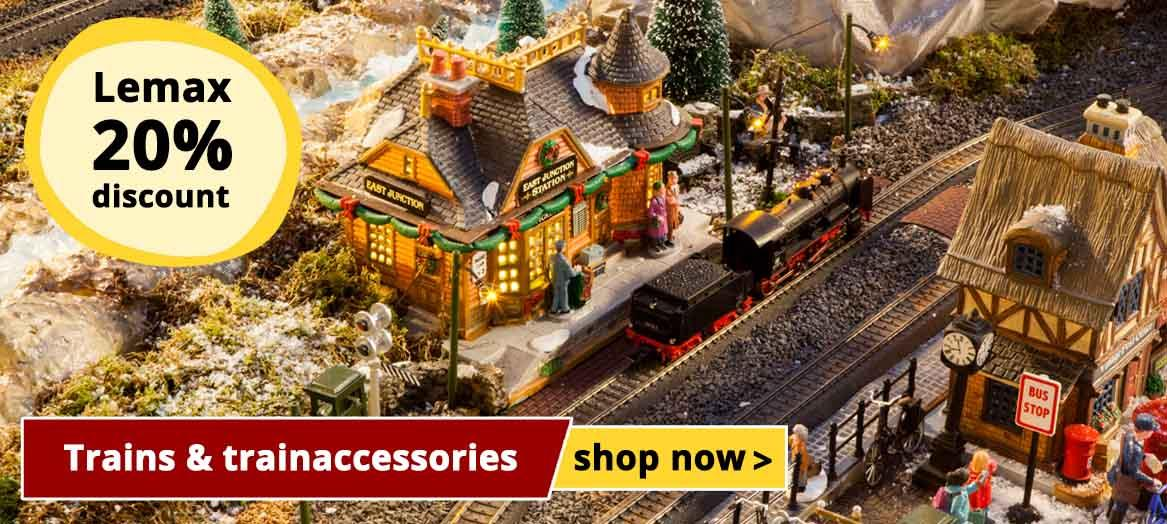 Lemax 20% discount on all tranins and trainaccessories