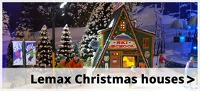 Lemax lighted christmas houses