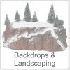 Backdrops and landscaping